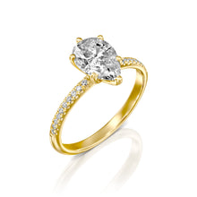 "Load image into Gallery viewer, 0.5 Carat 14K White Gold Diamond ""Lucy"" Engagement Ring"