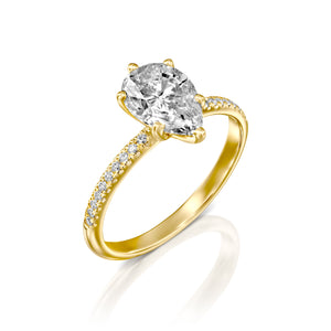 "0.5 Carat 14K White Gold Diamond ""Lucy"" Engagement Ring"
