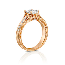 "Load image into Gallery viewer, 0.7 Carat 14K Rose Gold Diamond ""Kira"" Engagement Ring"