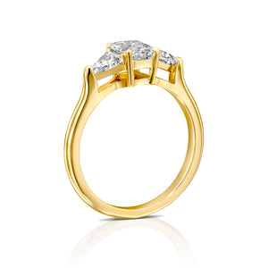 "3 Carat 14K Yellow Gold Moissanite ""Monica"" Engagement Ring"