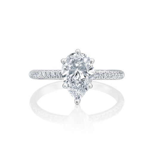 0.94 Carat 14K White Gold Moissanite