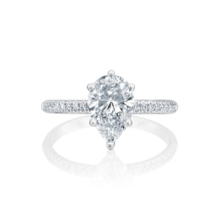 "0.94 Carat 14K White Gold Moissanite ""Lucy"" Engagement Ring"