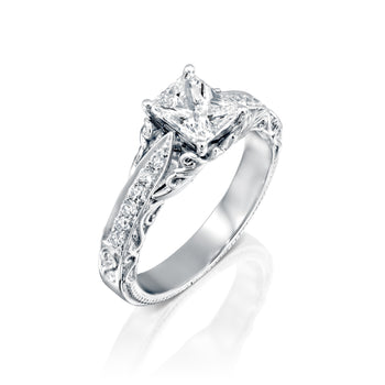 0.9 Carat 14K White Gold Diamond