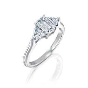 1.4 Carat 14K White Gold Moissanite