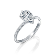 "Load image into Gallery viewer, 1.7 Carat 14K Rose Gold Moissanite & Diamonds ""Lucy"" Engagement Ring"