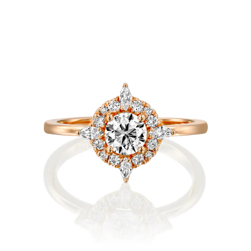 0.75 CTW 14K Rose Gold Diamond