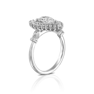 "1.75 Carat 14K White Gold Pear Diamond ""Gatsby"" Engagement Ring"
