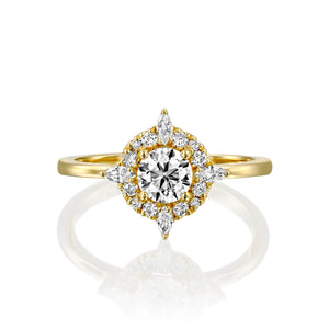 "0.75 CTW 14K Rose Gold Diamond ""Daisy"" Engagement Ring"