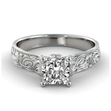 Load image into Gallery viewer, Vintage Engraved Diamond Ring - Diamonds Mine