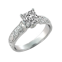 Load image into Gallery viewer, Hand Engraved Antique Moissanite Ring - Diamonds Mine