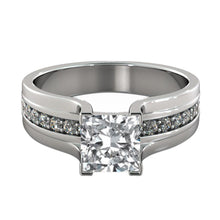 Load image into Gallery viewer, Vintage Moissanite Ring with Diamonds - Diamonds Mine
