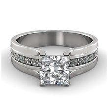 Load image into Gallery viewer, Vintage Princess Diamond Engagement Ring - Diamonds Mine