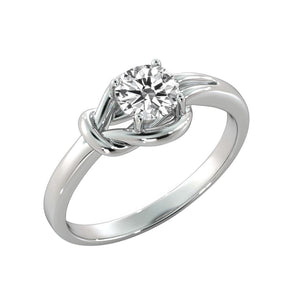"0.5 Carat 14K White Gold Diamond ""Laura"" Engagement Ring - Diamonds Mine"