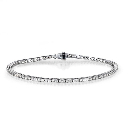 Diamond Tennis Bracelet 14k White gold - Diamonds Mine