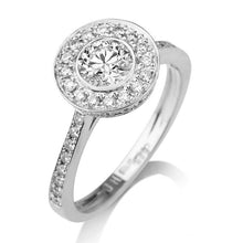 Load image into Gallery viewer, Round Diamond Halo Engagement Ring - Diamonds Mine