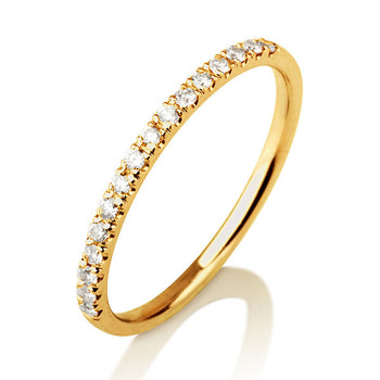 "0.20 TCW 14K Yellow Gold Diamond ""Amy"" Wedding Band - Diamonds Mine"