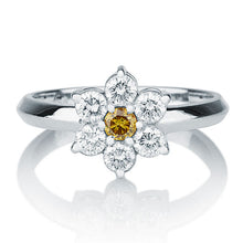 Load image into Gallery viewer, Diamond Flower Engagement Ring - Diamonds Mine