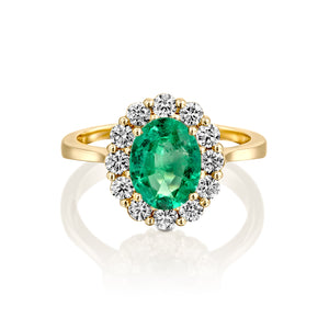 "2 Carat 14K Yellow Gold Emerald ""Olivia"" Engagement Ring"