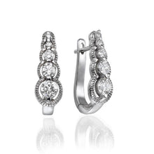 Load image into Gallery viewer, 5 Stone Diamond Earrings - Diamonds Mine
