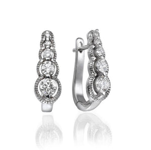 5 Stone Diamond Earrings - Diamonds Mine