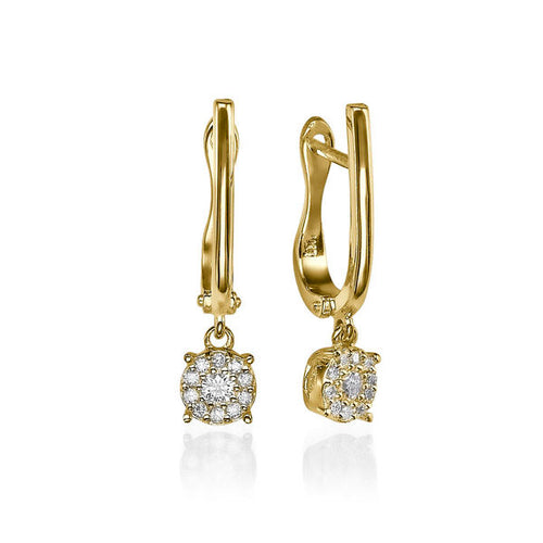 0.20 Carats Diamond Earrings - Diamonds Mine
