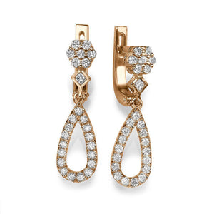 "0.2 Carat 14K White Gold Diamond ""Bella"" Earrings 