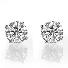 Load image into Gallery viewer, Diamond Stud Earrings 14K model - Diamonds Mine