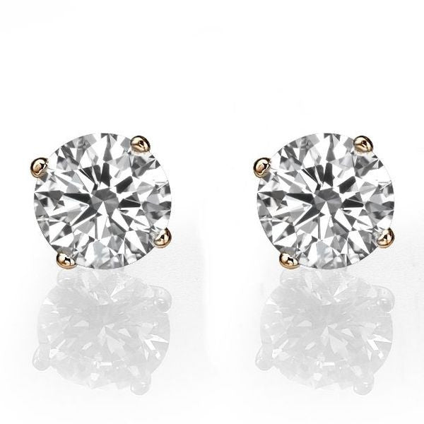 Diamond Stud Earrings 14K model - Diamonds Mine