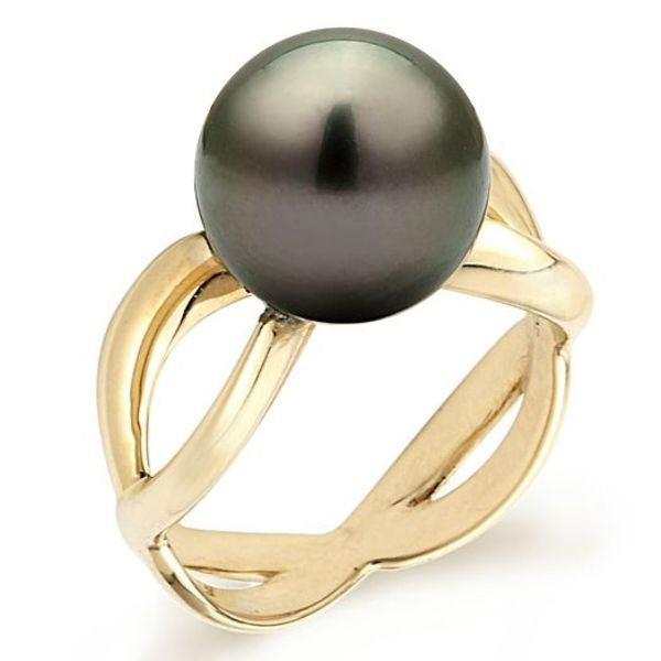 Tahitian Pearl Ring 11MM - Diamonds Mine