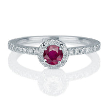 Load image into Gallery viewer, Vintage Ruby Diamond Engagement Ring - Diamonds Mine
