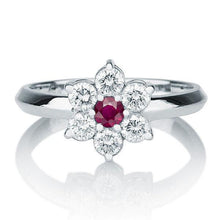 "Load image into Gallery viewer, 0.55 TCW 14K White Gold Ruby ""Nora"" Engagement Ring"