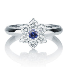 Load image into Gallery viewer, Blue Sapphire Engagement Ring Accented by Diamonds - Diamonds Mine