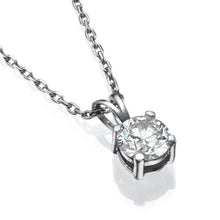 Load image into Gallery viewer, Round Diamond Pendant 14K Gold - Diamonds Mine