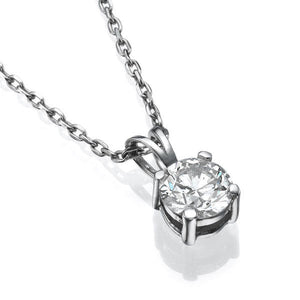 Round Diamond Pendant 14K Gold - Diamonds Mine