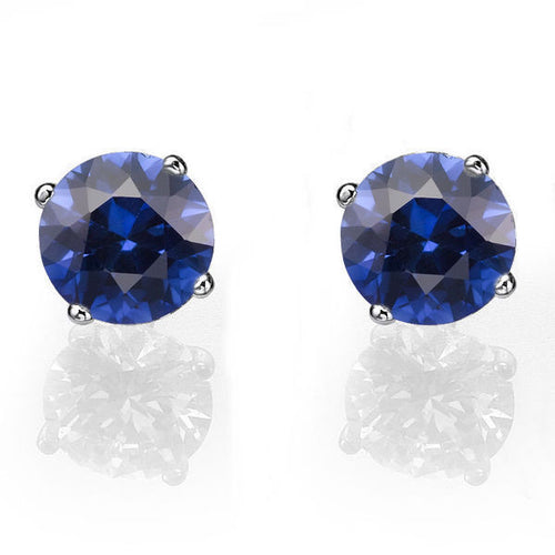 Sapphire Stud Earrings 14K - Diamonds Mine