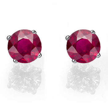 0.4 Carat 14K White Gold Ruby