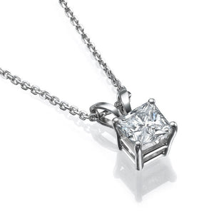 Princess Shape Diamond Pendants 14K Gold - Diamonds Mine