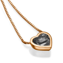 "Load image into Gallery viewer, 1.5 TCW 14K Yellow Gold Black Diamond ""Heart"" Pendant"