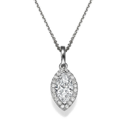 Diamond Pendants 14K with diamonds - Diamonds Mine