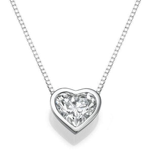 Heart Diamond Pendant 14K Gold - Diamonds Mine