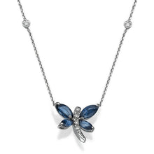Load image into Gallery viewer, Sapphire Pendants 14K with diamonds model dragonfly - Diamonds Mine