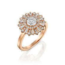 "Load image into Gallery viewer, 3/4 Carat 14K White Gold GIA Certified Diamond ""Mia"" Engagement Ring"