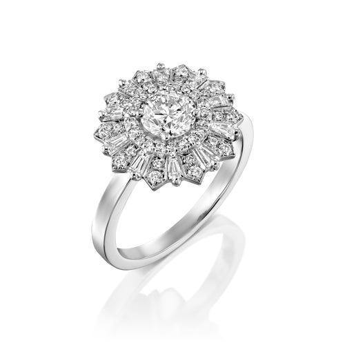 3/4 Carat 14K White Gold GIA Certified Diamond