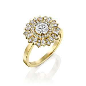 "1 Carat 14K Yellow Gold GIA Certified Diamond ""Mia"" Engagement Ring"