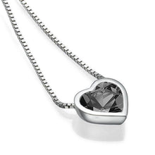 Load image into Gallery viewer, Black Diamond Pendant 14K heart - Diamonds Mine