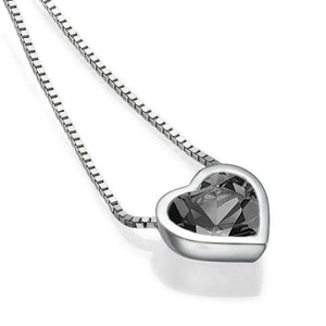 Black Diamond Pendant 14K heart - Diamonds Mine
