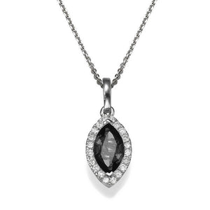 Black Diamond Pendant 14K with diamonds - Diamonds Mine