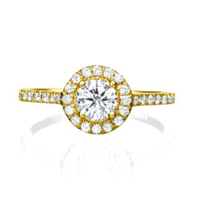 "Load image into Gallery viewer, 0.9 Carat 14K White Gold Diamond ""Kellie"" Engagement Ring"