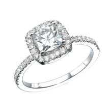 "Load image into Gallery viewer, 1.5 Carat 14K White Gold Diamond ""Malorie"" Engagement Ring"
