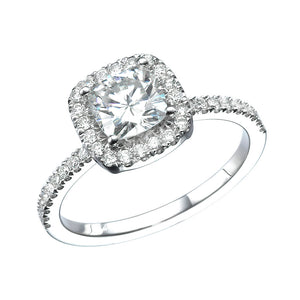 "1.5 Carat 14K White Gold Diamond ""Malorie"" Engagement Ring"